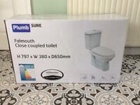 Brand new, Falmouth close coupled toilet