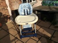 Chico folding adjustable high chair