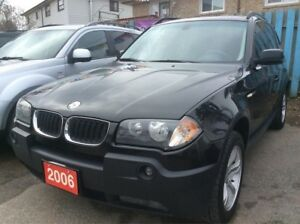 2006 BMW X3 2.5L Low KM 160K Panorama Roof Leather Alloys MINT