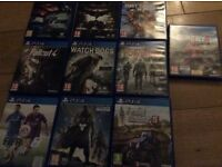 Selection of PS4 games in good condition some only played once