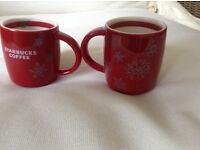Starbucks espresso mugs
