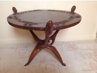 Hand Carved Wooden Antique African Design Coffee Table £15.00 only