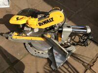 DeWALT DWS780 240V 305mm Double Bevel Sliding Cut Mitre Saw