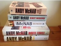 Mens fiction: Collection of Andy McNab books x5