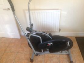 Cross trainer (BE 5900) with tension adjustment for all strengths
