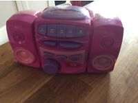 Child's CD player with 2 nursery rhyme cd included