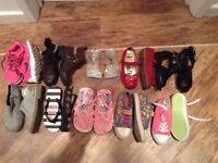 Bundle of girls shoes & trainers Next, Nike, Boden & Clarks