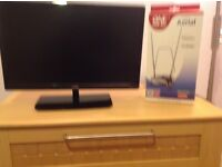 """Logik 22"""" LED TV with built in DVD player."""