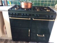 New home dual fuel range cooker and hood