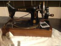 Vintage electric 99k Singer sewing machine