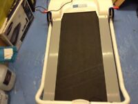 Pro fitness treadmill folds up for easy storage hardly used excellent condition