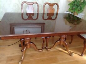Cherry Wood dining table & 6 chairs