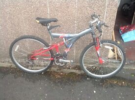 Bicycle red, bike new tyres cheap