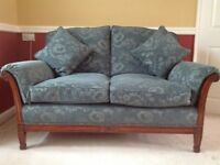 Bergere sofas(2) and chair, in green, and in excellent condition