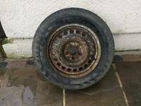 Steel rim and tyre. COLLECTION IS CM1-3DA. AREA