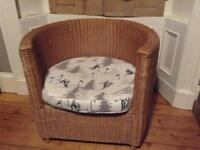Round wicker chair - would make a fab dog's bed!