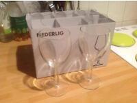 Set of 6 IKEA wine glasses