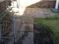 Garden slabs/paving