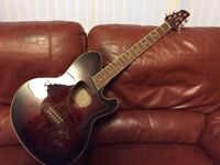 Ibanez Talman TCM50E-VBS electric/acoustic guitar