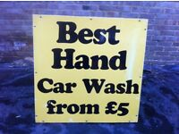 'Best Hand Car Wash' Sign