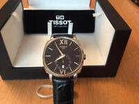 Tissot mens T Lord Automatic watch black leather strap (new/boxed) rrp £675