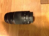 Canon ultrasonic 75-300mm zoom lens