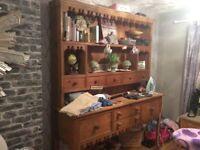 soild pine dresser