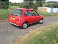 X Nissan micra 1.0 red mot low tax n insurance low miles72000 £295