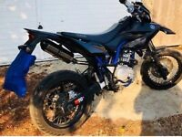 Yamaha WR125X 2016 4 stroke Black Blue Frame Supermoto top spec not DT CR RM Honda Suzuki Duke legal