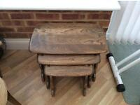 Nest of ercol tables