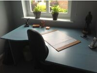 Office Desk, Filing Bookcase/Cabinet, and Swivel Chair