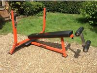 Gymano Elite Decline Barbell Bench with Spotting Platform (Delivery Available)