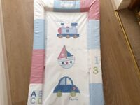 Baby cot top changer and changing mat, for only £10 altogether