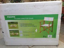 Garden directors chairs x2