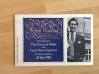 British Post Office Mint Stamps - Charles and Diana 29th July 1981