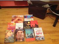 Selection of books / Novels with free Targus Laptop shoulder bag