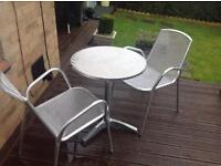 Bistro set - new table and 2 chairs only £50