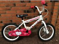 "HELLO KITTY 16"" BIKE BICYCLE SUIT 4-7"