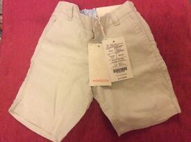 Monsoon Shorts Size12-18 Months (Brand New)