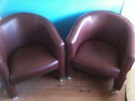 2 club chairs
