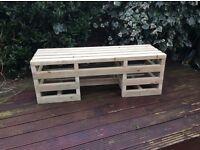 Brand new Handmade 3 seater contemporary desined garden bench