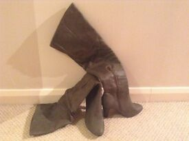Knee High Khaki Boots size 4