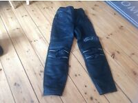 Alpine stars leather biker trousers