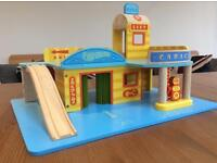 Traditional Wooden Car Garage and Car Wash