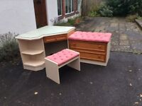 Dressing Table, Stool and Chest of drawers