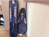 hockey complete with cover case and tennis Raquet with case