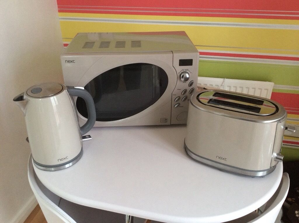 Next Home Microwave Kettle And Toaster Putty Colour