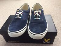 Lyle and Scott plimsolls size 10 Brand new with box