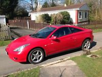 Red Toyota celica coupe, fairly good mileage,mot, full service history,can be seen anytime,