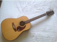 Epiphone 12 String Guitar and accessories